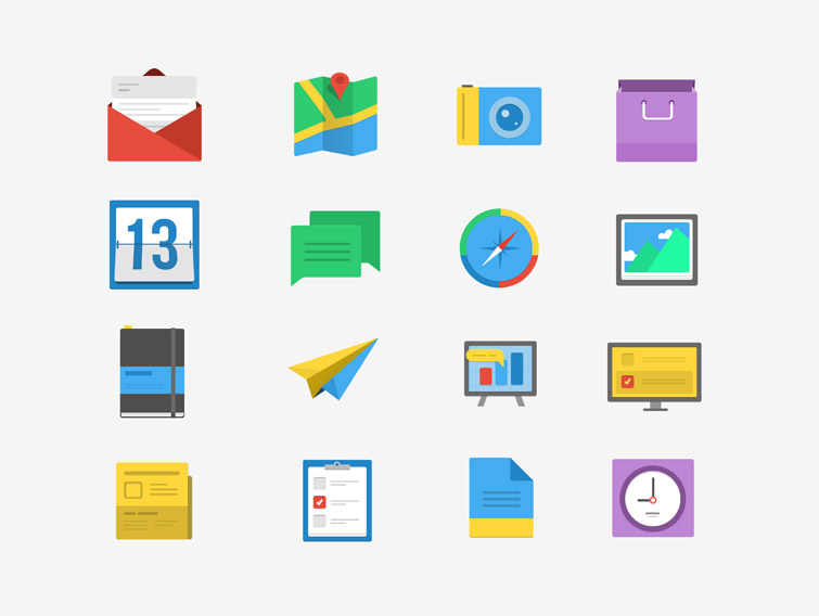 Flatified : 16 Simple and Flat Icons