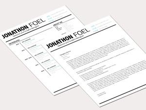 Minimalistic Resume PSD Template