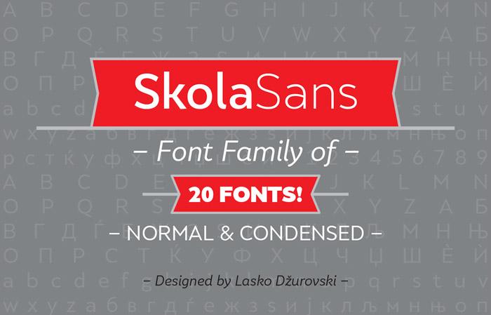 SkolaSans : Free Font Family