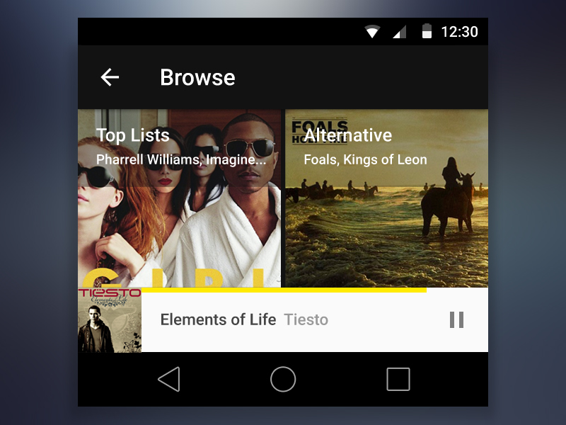 Media Player PSD kit for Android L