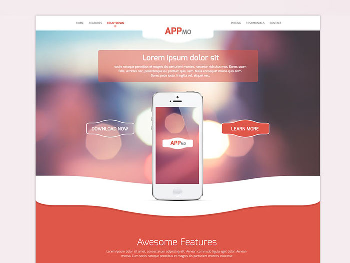 Appmo : Multipurpose App Landing Page Template