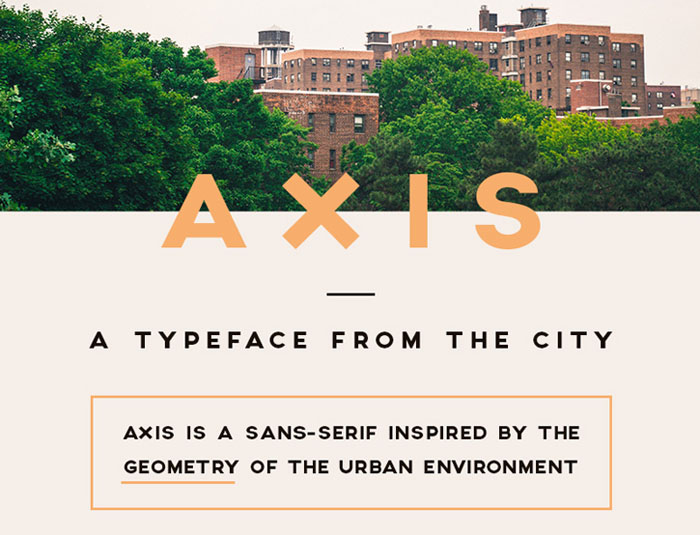Axis Free Typeface