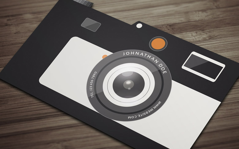Free Camera Business Card Template