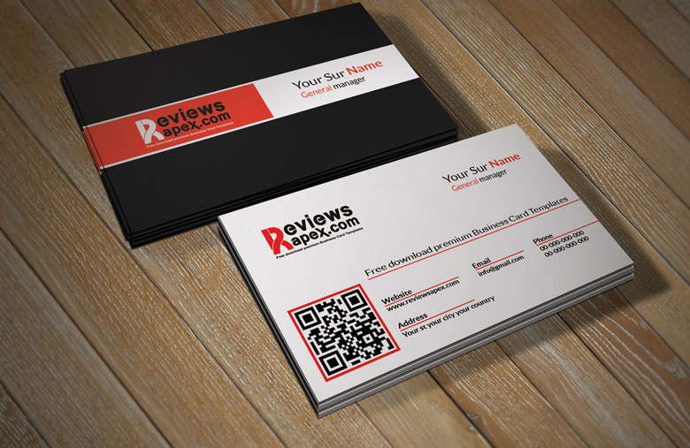 Creative Business Card Template with QR Code