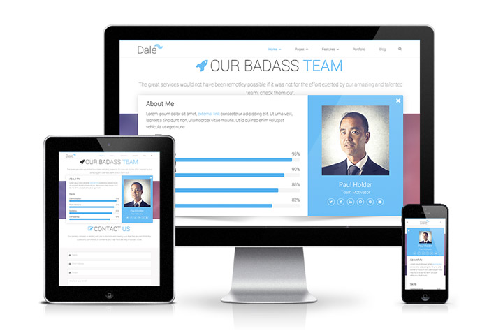 Dale : free Responsive HTML5 theme for Creative Agency