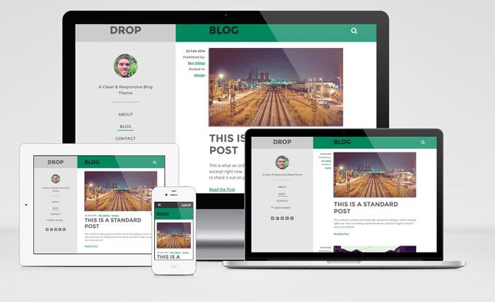 Drop : Responsive WordPress Theme for Personal Blog