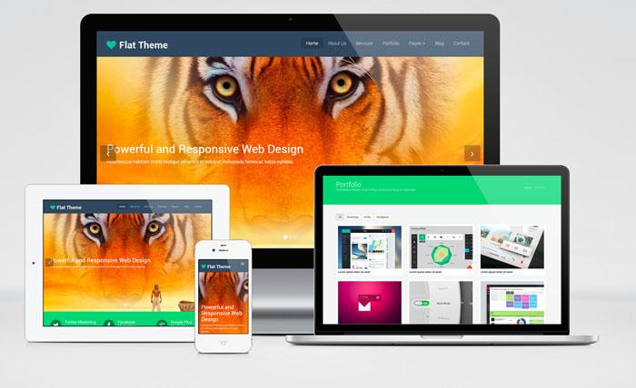Flat Theme – Free Bootstrap Multipurpose Web Template