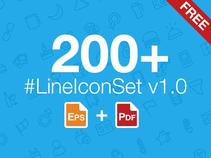 200+ Free Line Icon Set
