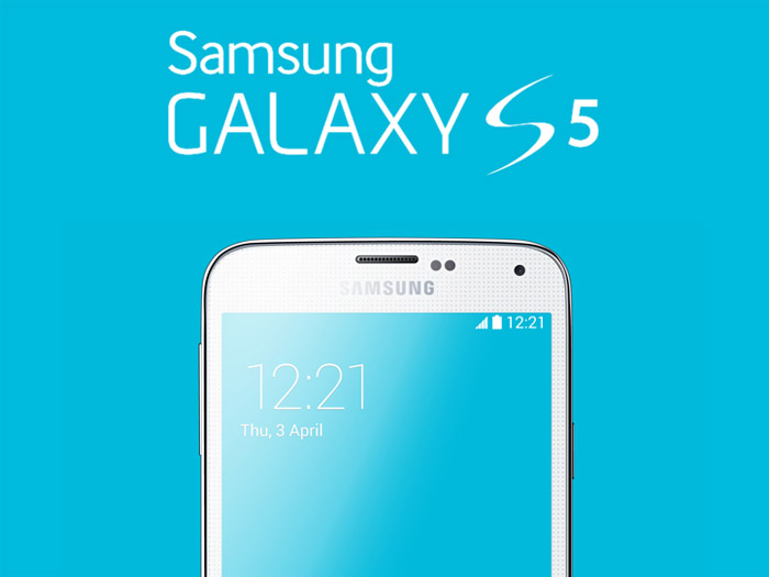 Realistic Samsung Galaxy S5 Mockup