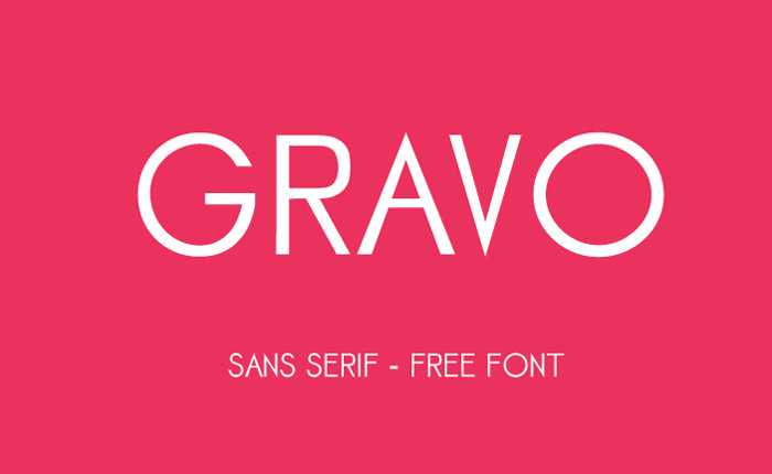 Gravo free Typeface