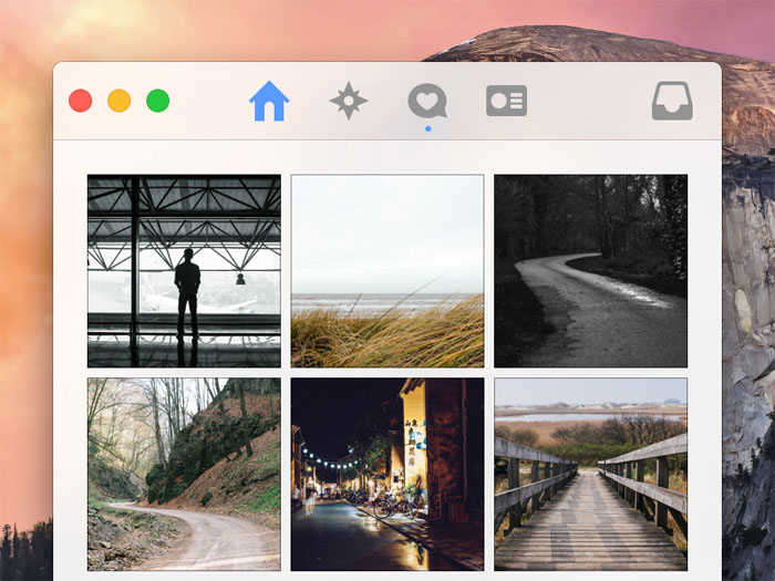 Instagram for Mac OS X Yosemite