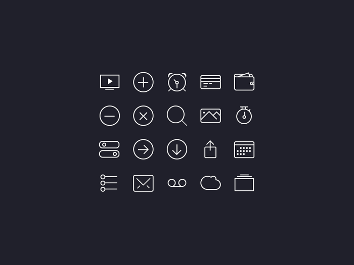 Icons iOS7 PSD
