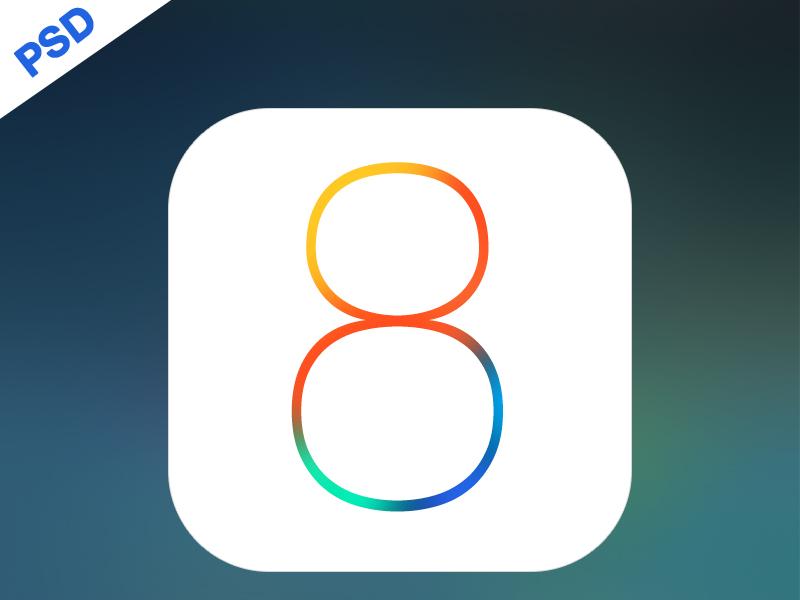iOS 8 Logo PSD