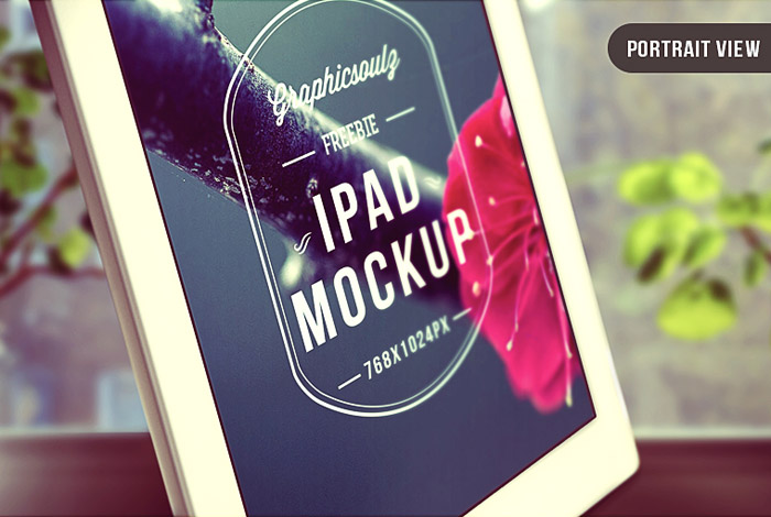 Stylish iPad PSD Mockup