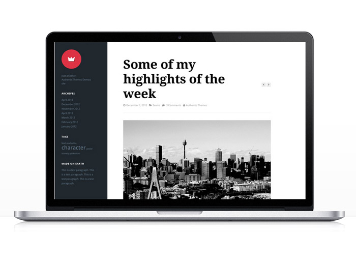 Lefty : Responsive WordPress Theme for Personal Blog