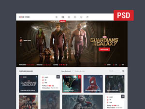 Movie Store PSD Template