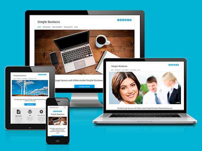 Simple Business : Free Responsive WordPress Theme for Company Site