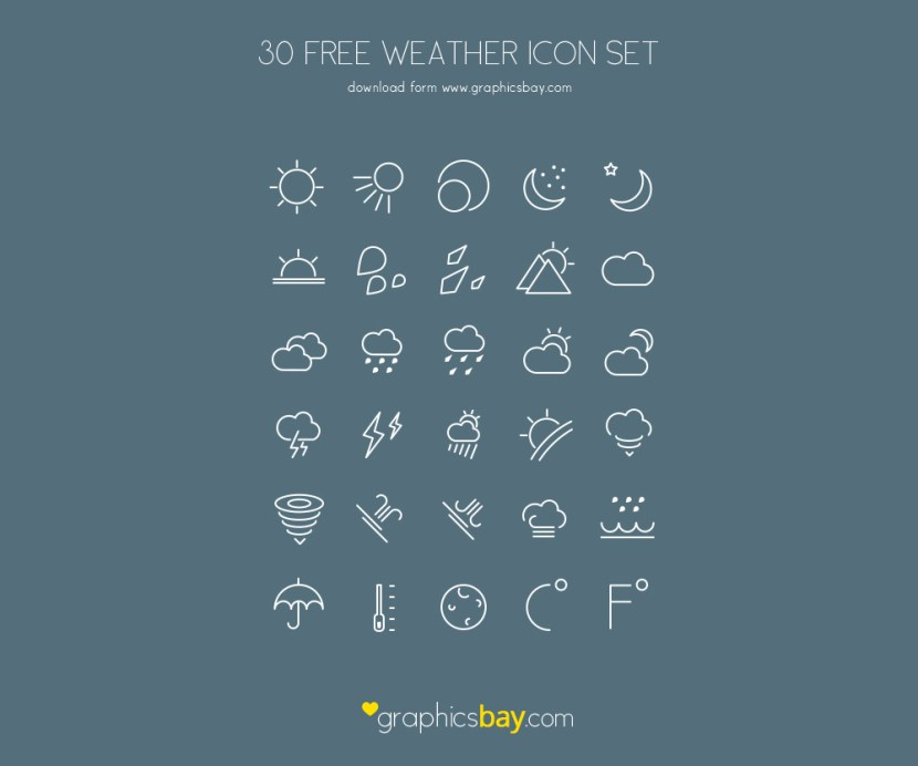 Free Vector Outline Weather Icons