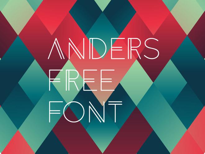 Anders Free Modern Geometric Font