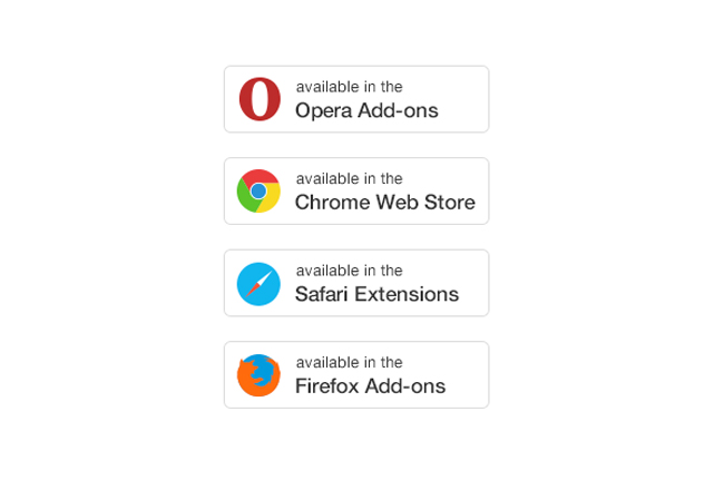 Browser Extensions Buttons PSD