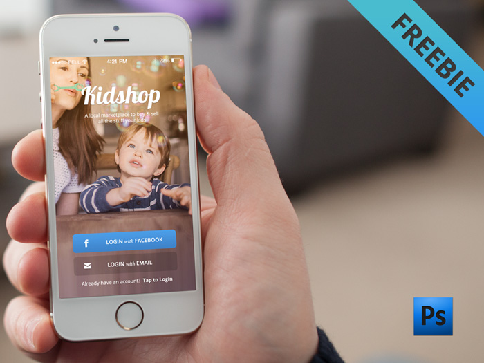 Free App Login Screen PSD