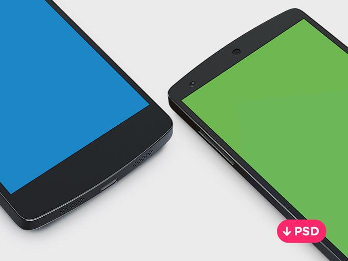 Nexus 5 PSD Mockup