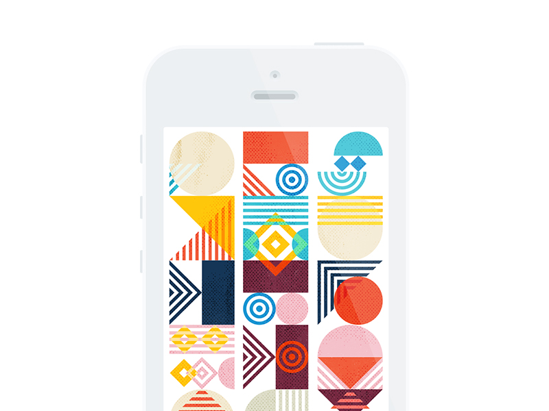 Geometric Pattern iPhone Wallpaper