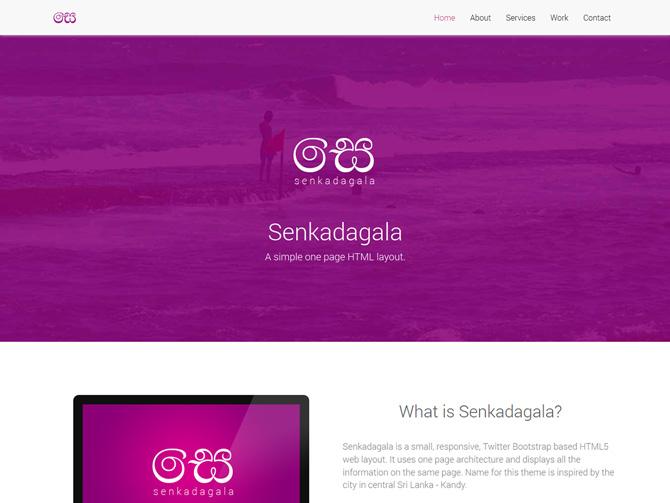 Senkadagala – Free Single Page HTML Template