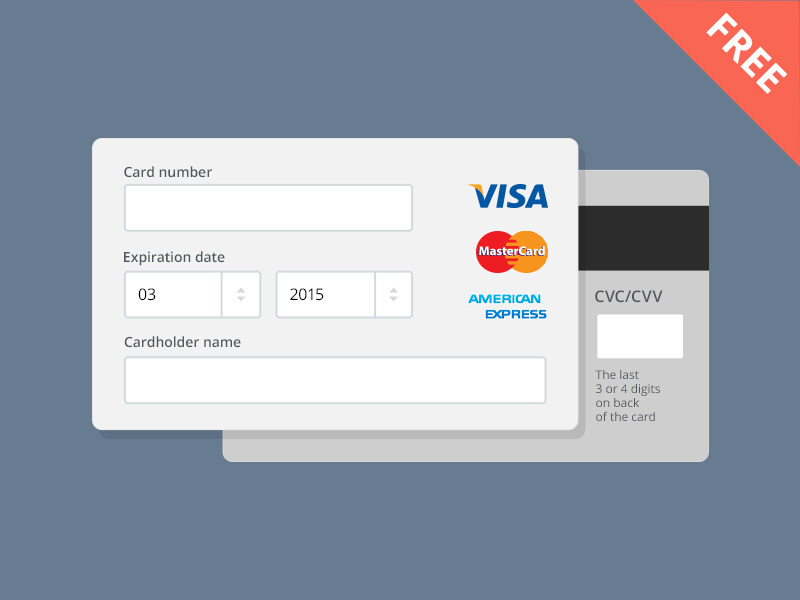 Credit Card Ecommerce Payment Form PSD