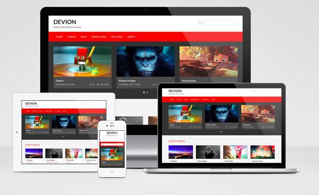 Devion : Free Responsive video sharing WordPress theme