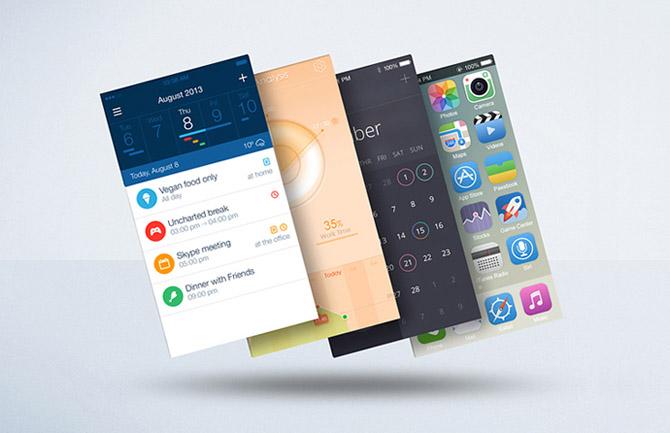 Float Mobile Apps Display Mockup