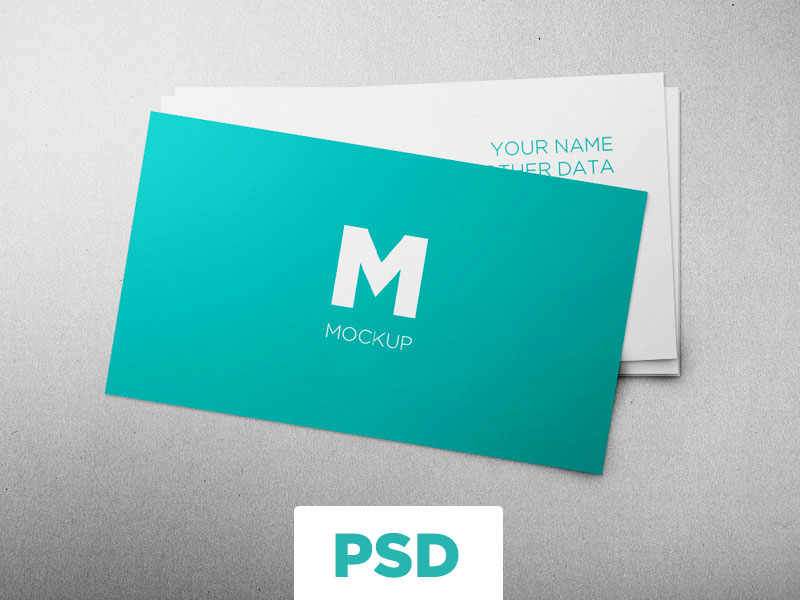 Free Clean Business Cards Mockup