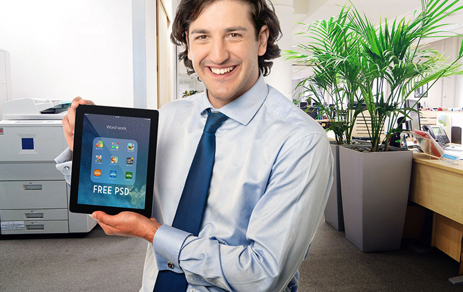 5 Free iPad Air Mockup PSD