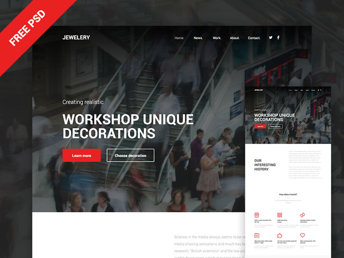 Jewelery PSD Website Template