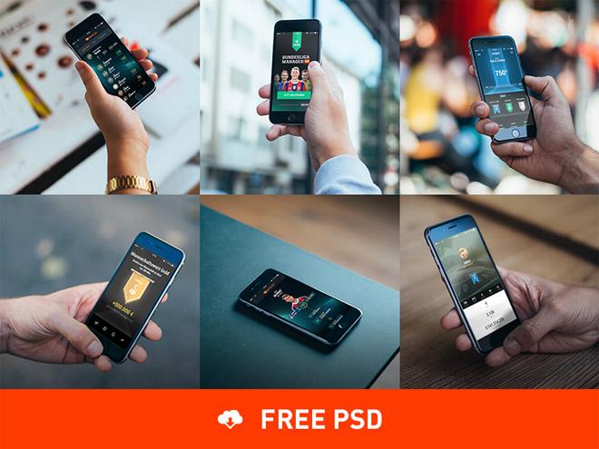 6 Free Photorealistic iPhone 6 Mockups