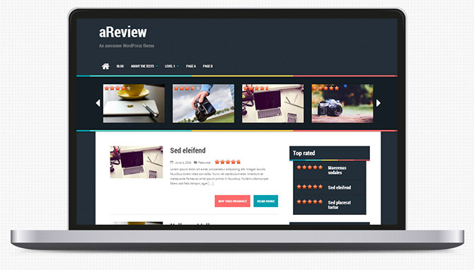 aReview : Free Review WordPress Theme
