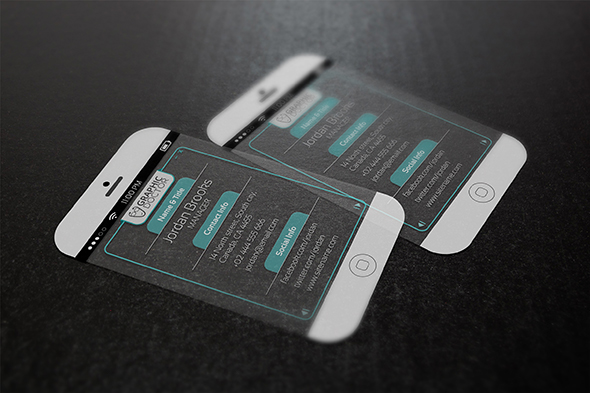 iPhone 6 Business Card Template Free Download