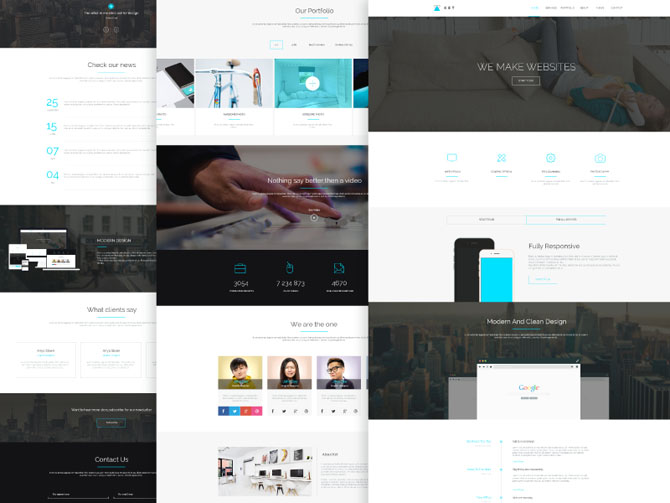 Ket : One Page PSD Template