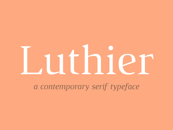 Luthier Free Typeface