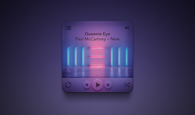 Clean MP3 Music Player PSD
