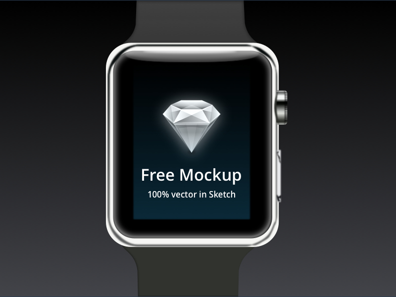 Free Vector Apple Watch Mockup Built in Sketch