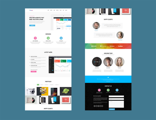 Butterfly : Free Responsive HTML Template