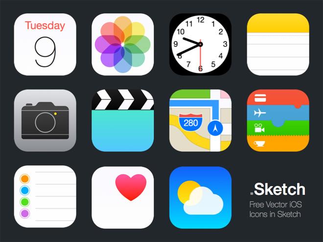 Vector Sketch iOS Icons