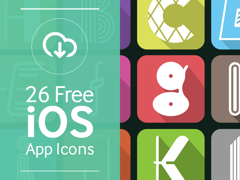Free iOS Alphabet App Icons