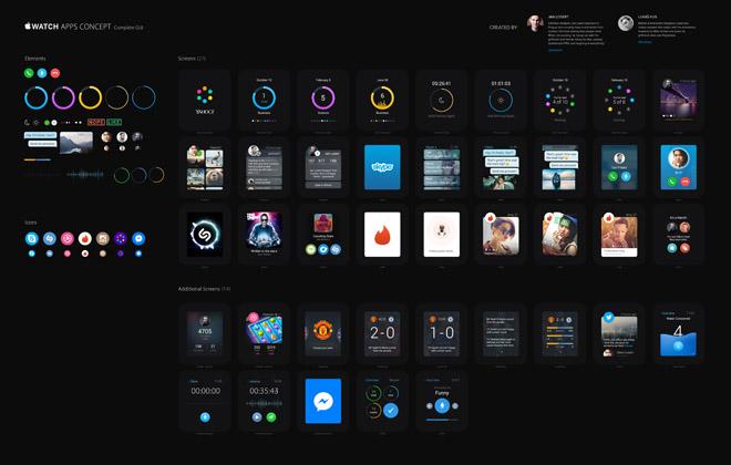 Apple Watch Apps GUI PSD