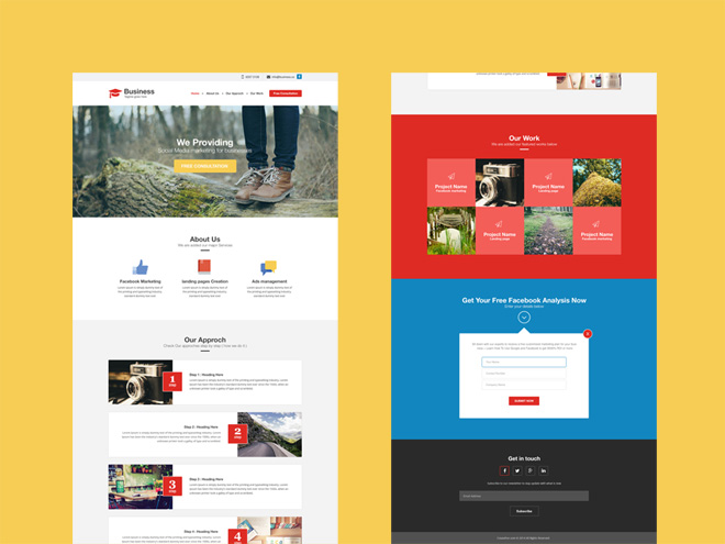 Agency : Free Flat and Modern PSD Web Template