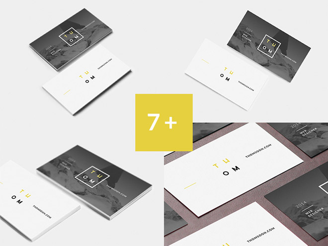 7+ Free Clean Business Card Mockup