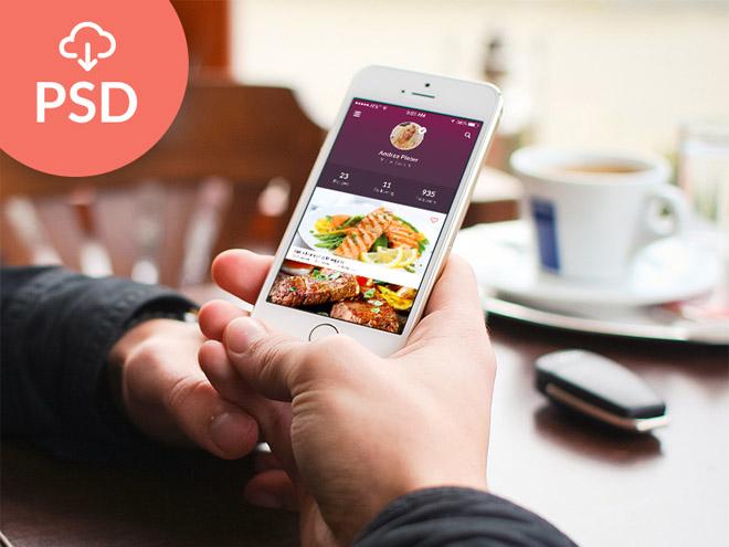 Free Flat Mobile App UI PSD
