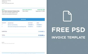 Free Modern PSD Invoice Template