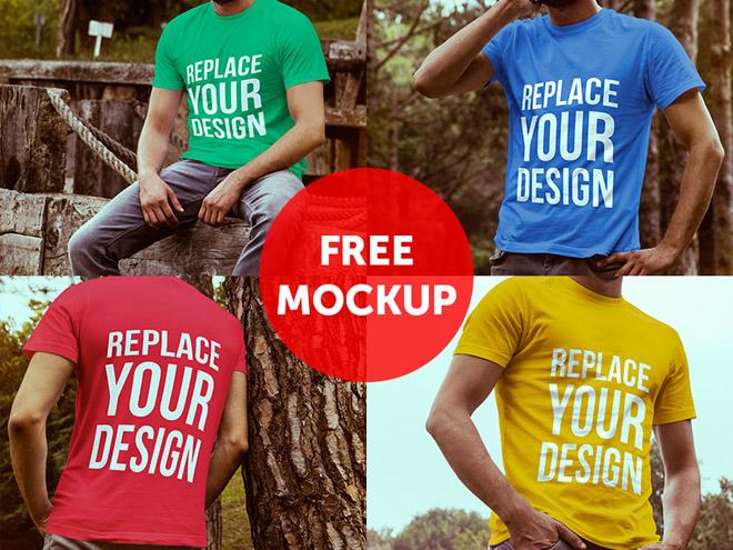 4 Free T-shirt Mockups